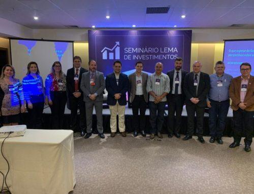 O Instituto de Previdência de Cruz participou do Seminário LEMA Investimentos em 2019